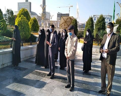 زیارت خورشید به نیابت از دانش آموزان دبستان امام حسین(ع)واحد دو